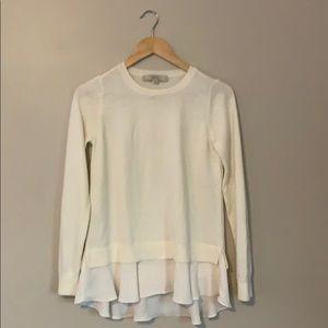 LOFT Lightweight Off White Sweater